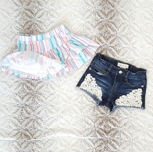 Girls Size 4 Skort and shorts Pair